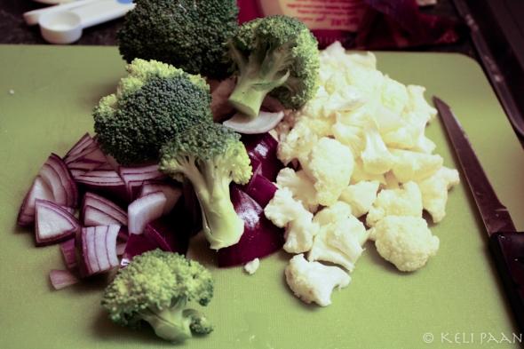 The veggies...
