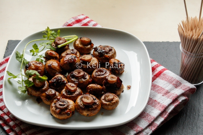 Pan roasted, Honey-glazed Mushrooms...