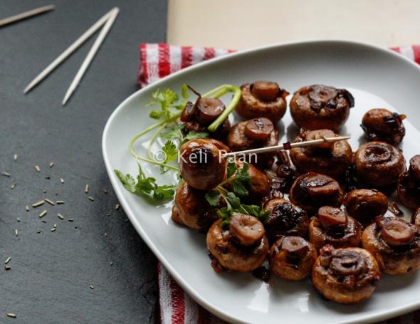 Pan roasted, Honey-glazed Mushrooms...