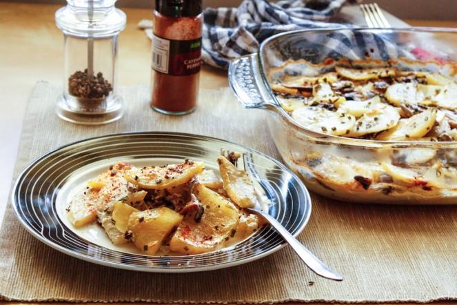 Potato & Mushroom Pie...