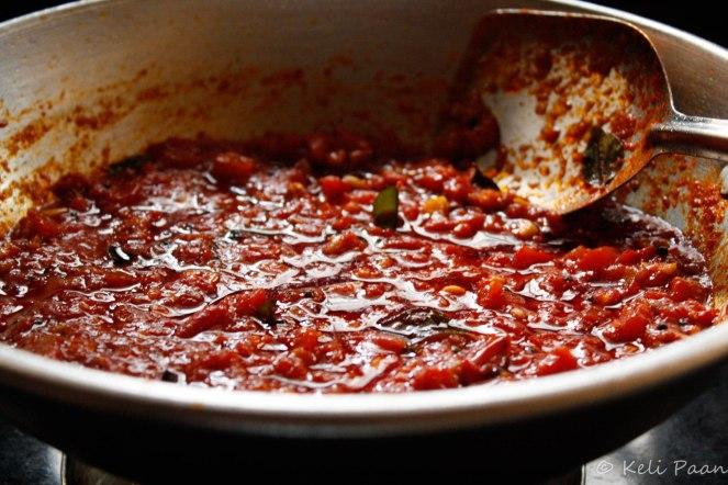 Takkali/Tomato Thokku ready.