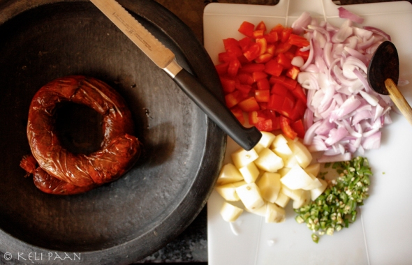 Goan Chorizo & other ingredients..