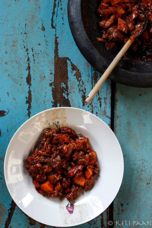 Goan Chorizo/Pork Sausage Chilly...Goan Chorizo/Pork Sausage Chilly...