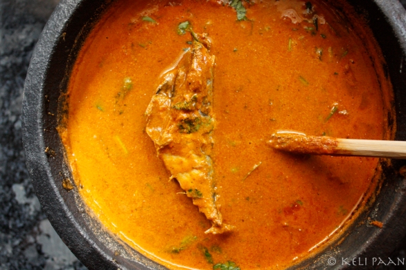From the villages of Tamil Nadu, a yummy Fish curry - Makerel curry…!