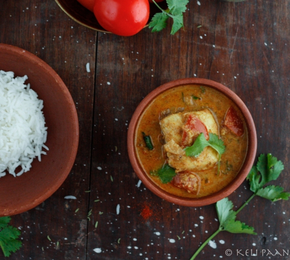 Meen Varatharachathu.... a fragrant  fish curry from the land of Kerala..