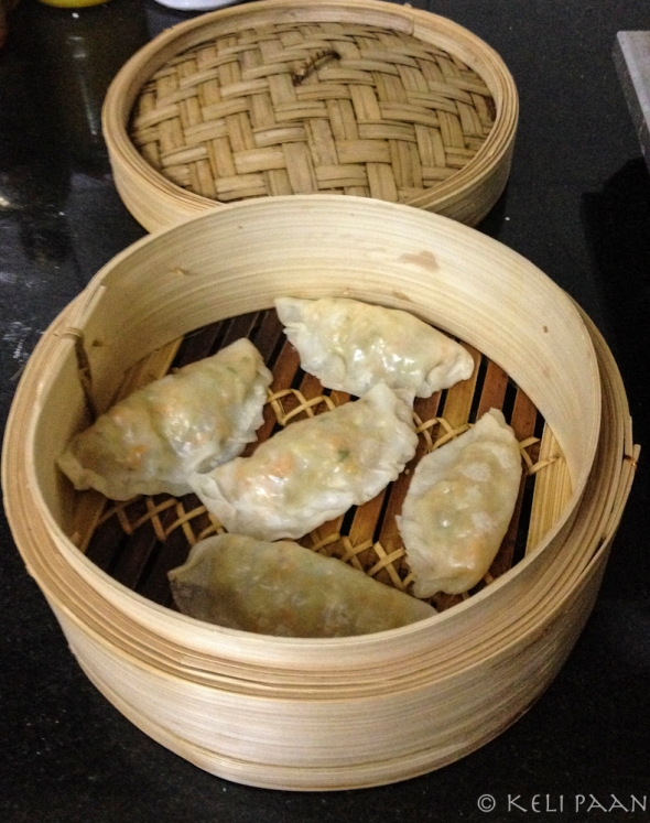 Steamed Momos/dumplings with an aromatic Veggie filling…