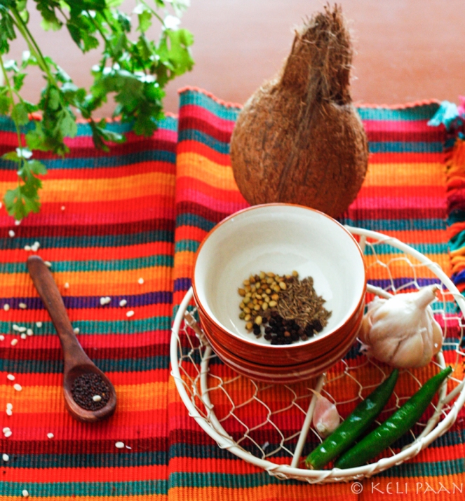 Some of the ingredients that go into the chutney...