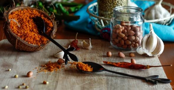 My take on the famous Lahsun/Garlic Chutney - Maharashtrian style