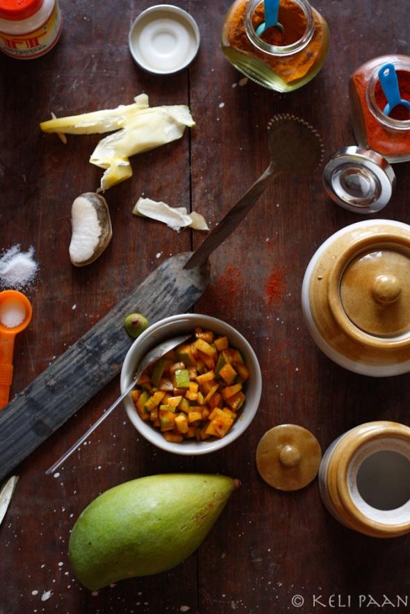 Ambuli/Raw Mango Pachhodi or rather an instant raw mango pickle