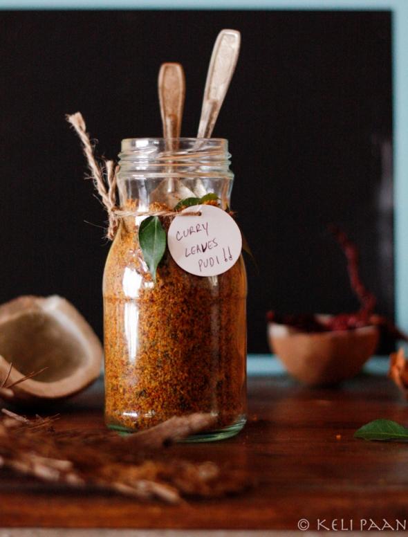 Hebbar Iyengar style Curry leaves chutney pudi....