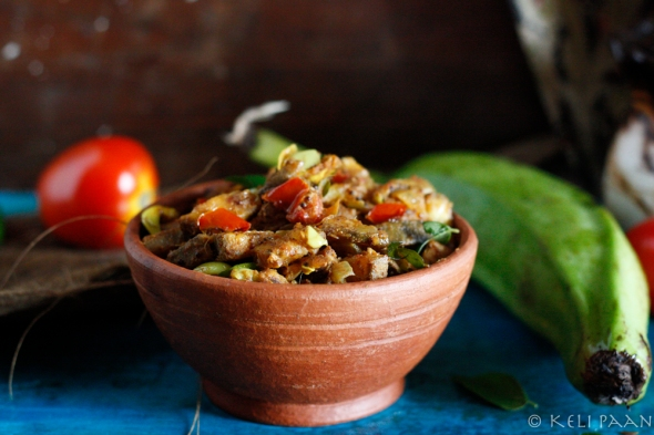 Raw Banana stir fry - Indian flavours...