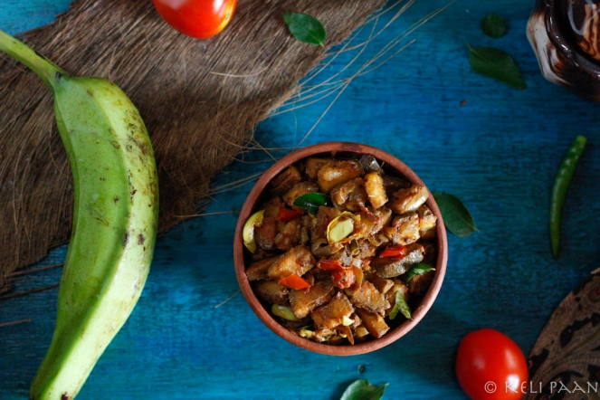 Raw Banana stir fry - Indian flavours